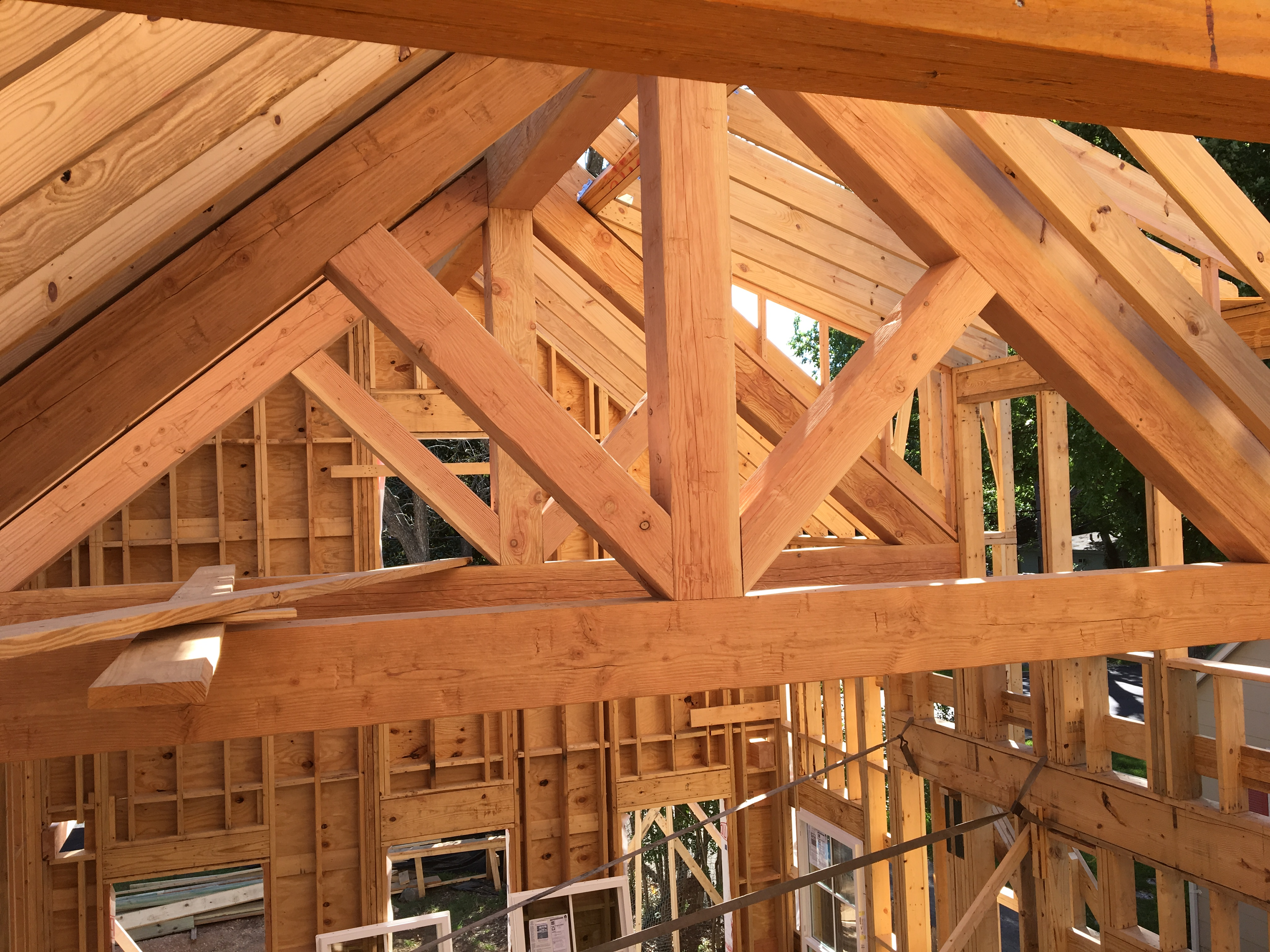 Structural Timber Trusses Custom Riverhouse Construction